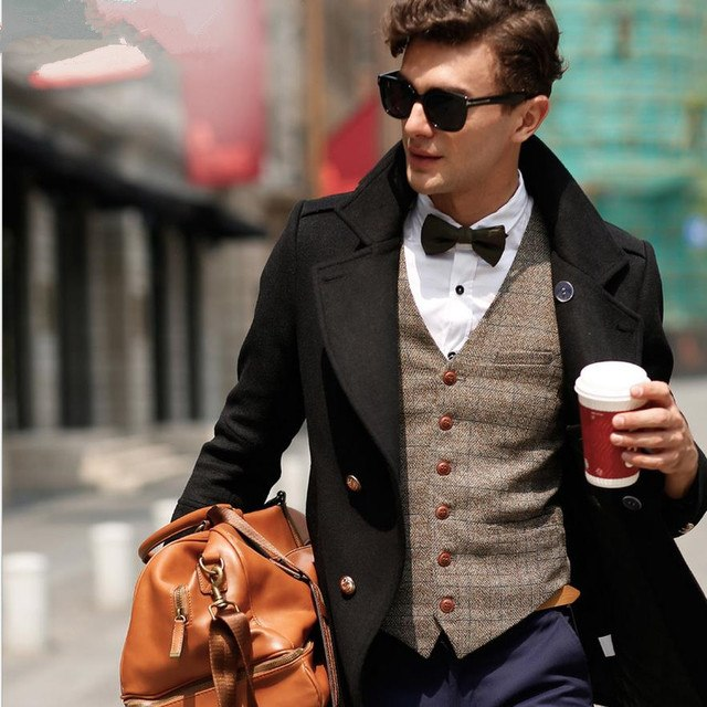 England Men S Suit Vest Business Sleeveless Casual Men S Jackets Waistcoat Tide Autumn And Winter